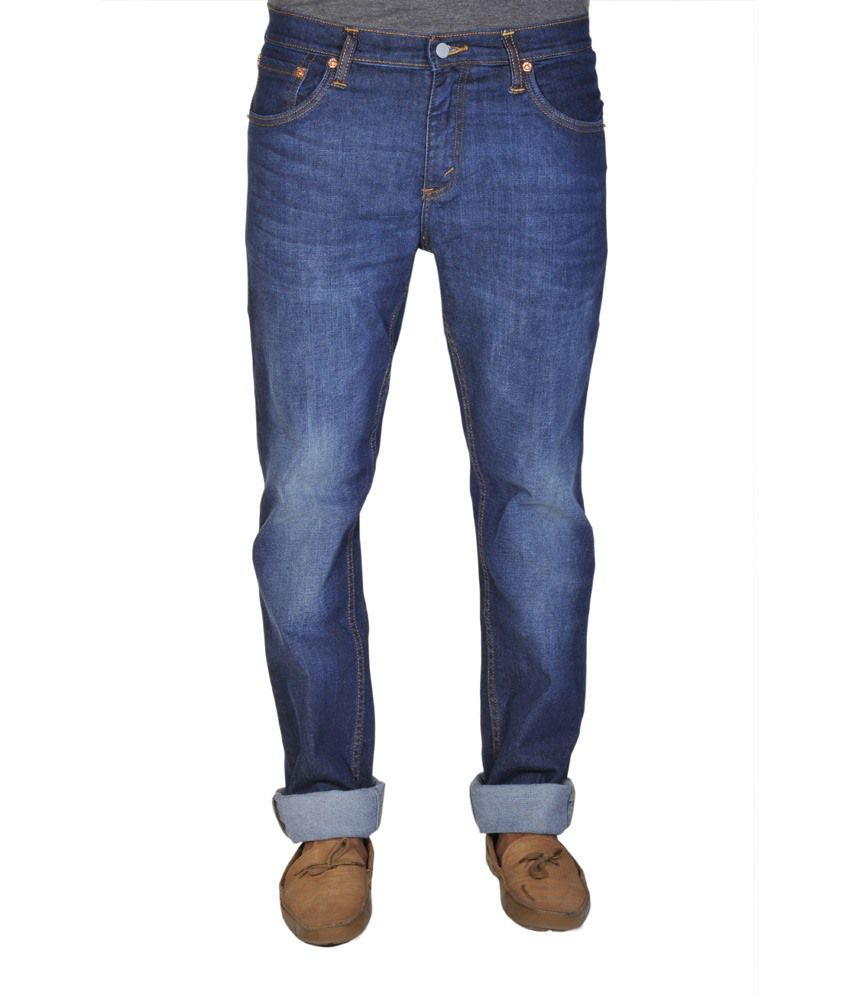 Levis Blue Cotton Jeans