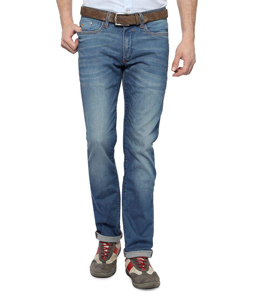 Allen Solly Blue Light Wash Slim Fit Jeans