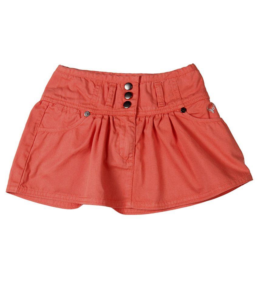 Allen Solly Peach Cotton Skirt