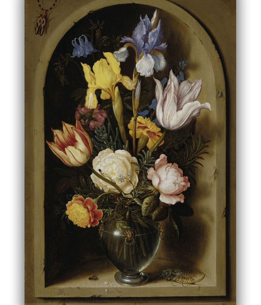 Vitalwalls Vase Of Flowers In A Window Niche, By Ambrosius ... on bud vases, graveside vases, us metalcraft vases, floral vases, niche wall art, cemetery vases, niche flower holders,