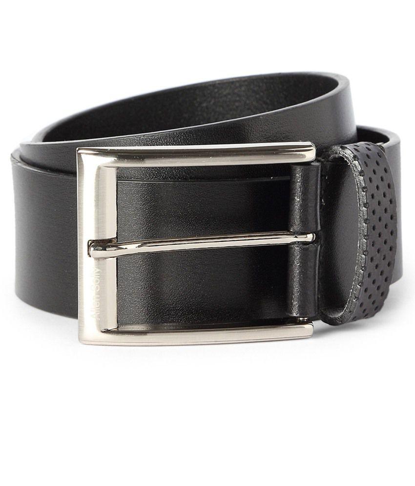Allen Solly Black Leather Belt