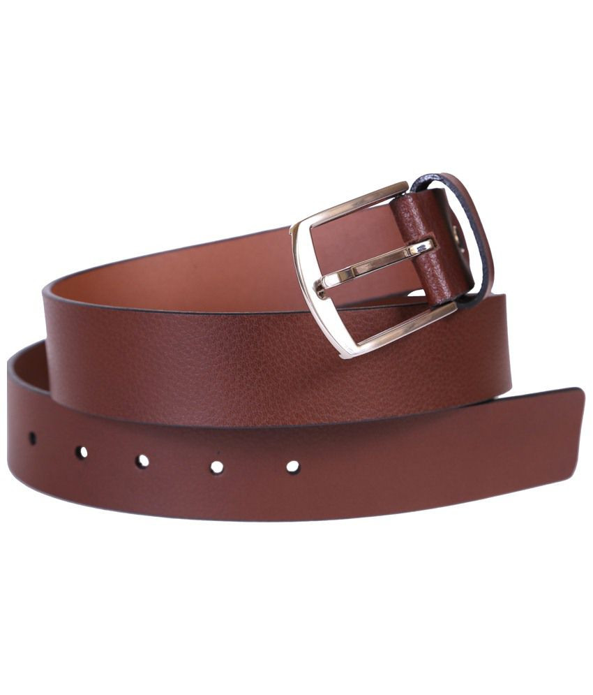 Star Luck Black Leather Belt