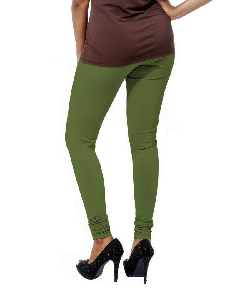 Go Colors Olive Green Ladies Churidar Price In India Buy Go