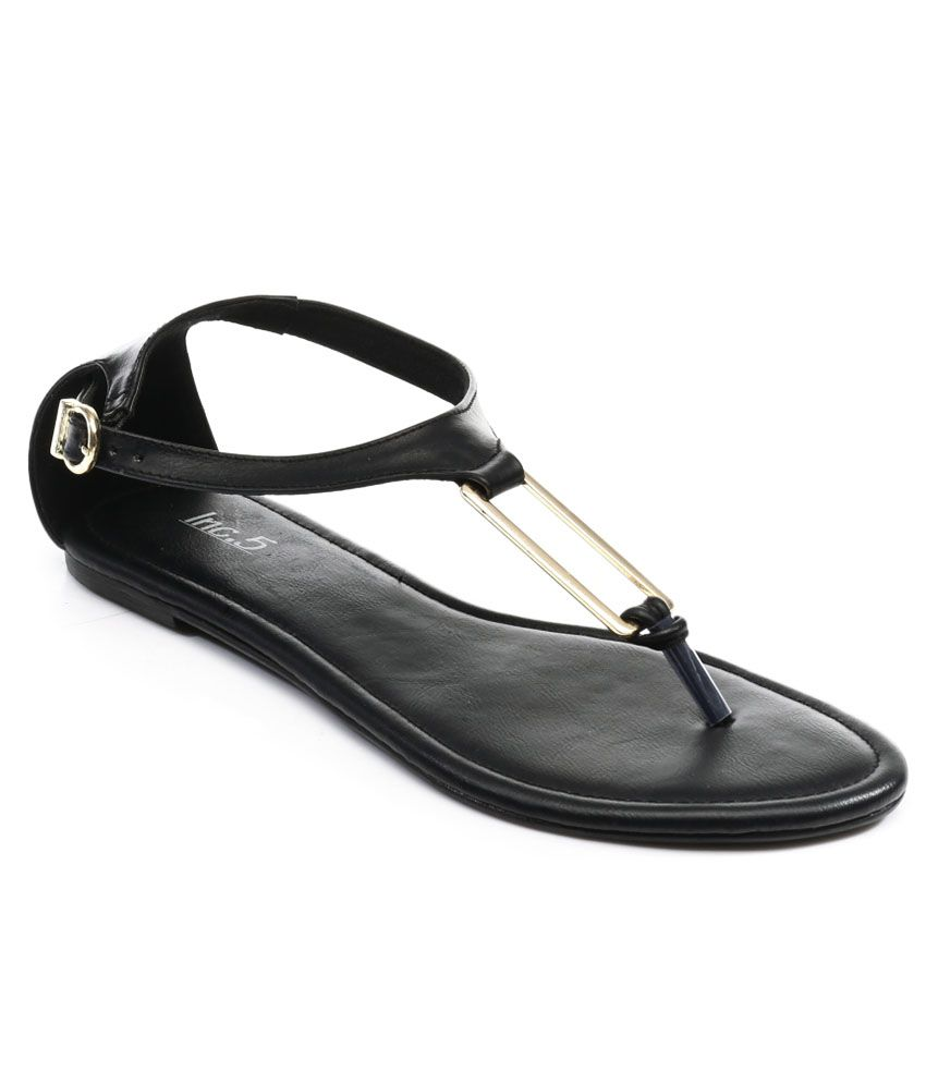 Inc.5 Black Ankle Strap Sandal