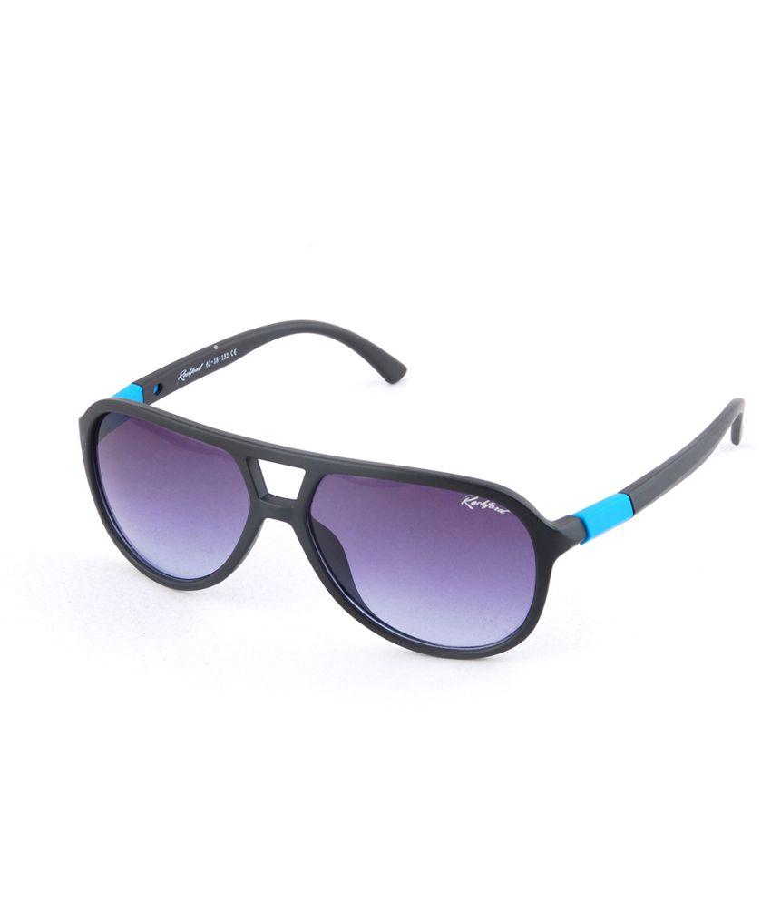 Rock Ford Blue Aviator Sunglasses