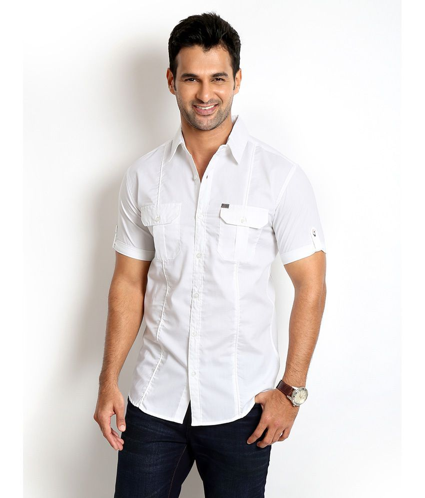 2a682bac Rodid White Denim Slim Fit Full Sleeve Shirt - Buy Rodid White Denim Slim  Fit Full Sleeve Shirt Online at Best Prices in India on Snapdeal
