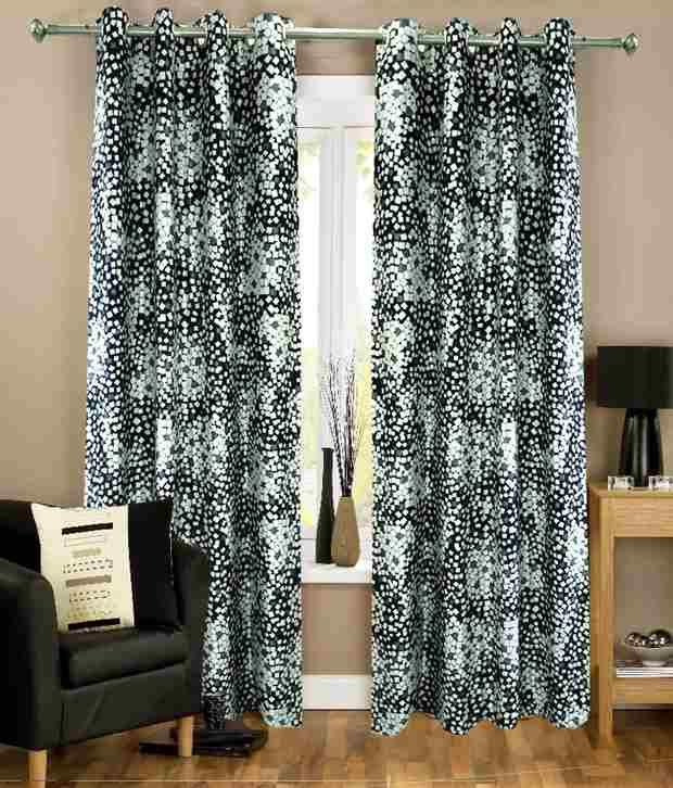 Homefab India Set of 2 Beautiful Long Door (9X4 ft) Curtains