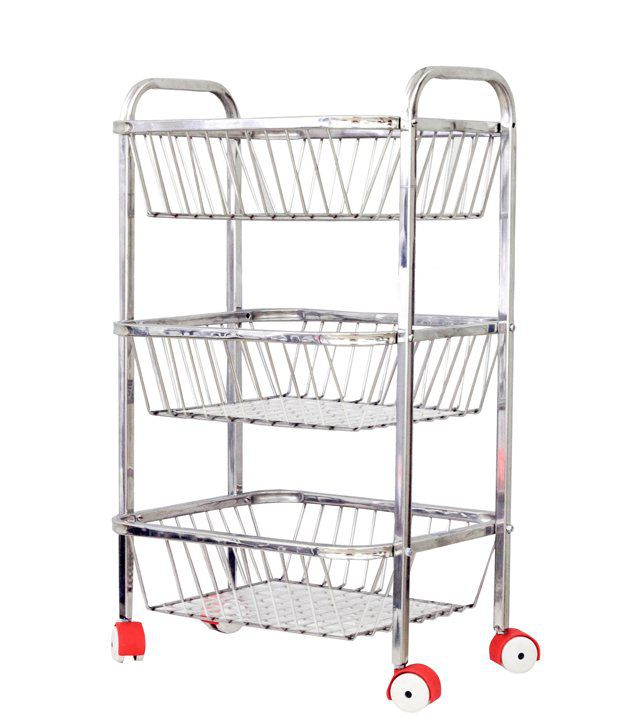 Maharaja Fruit Amp Vegetable Trolley 3 Tier With Unbreakable