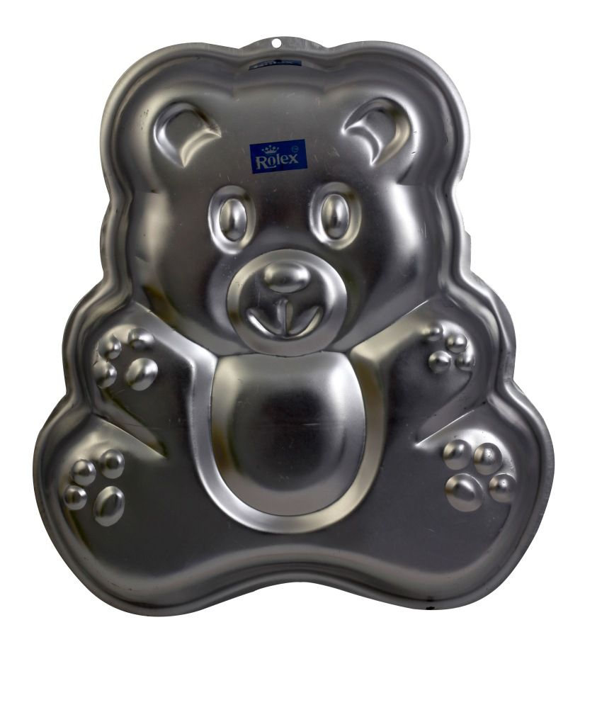 d3a48e3a0d0 Rolex Aluminium Cake Mould Pans Teddy Bear 1 Kg Cake  Buy Online at Best  Price in India - Snapdeal