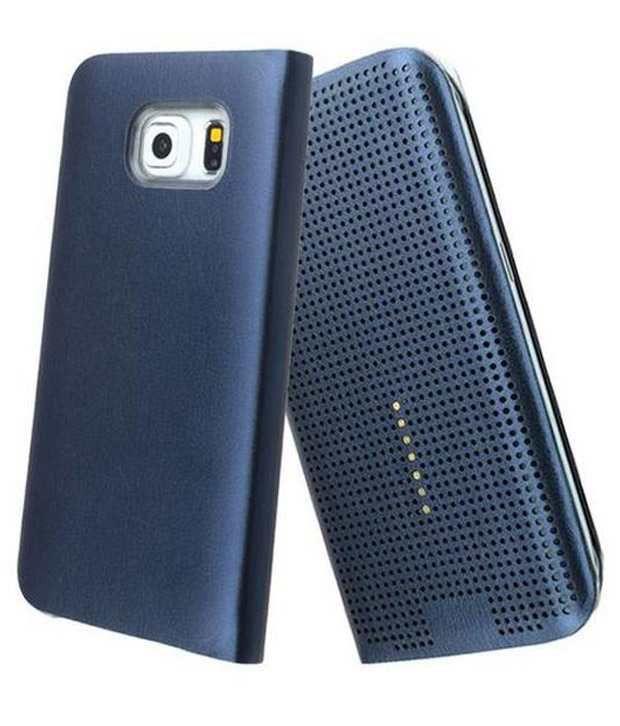 official photos 5f1f7 e26d3 Tommcase Dot View Sensor Flip Cover For Samsung Galaxy S6 Edge Blue