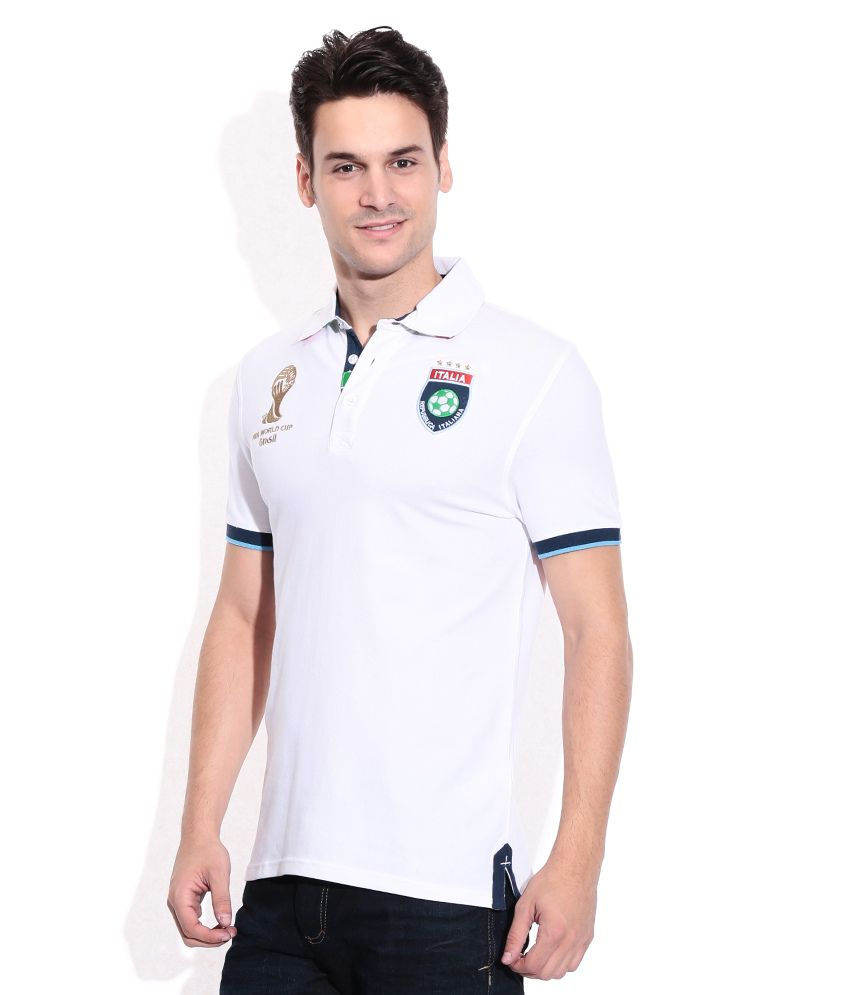 new lower prices low cost first look Celio White Polo Neck T-Shirts
