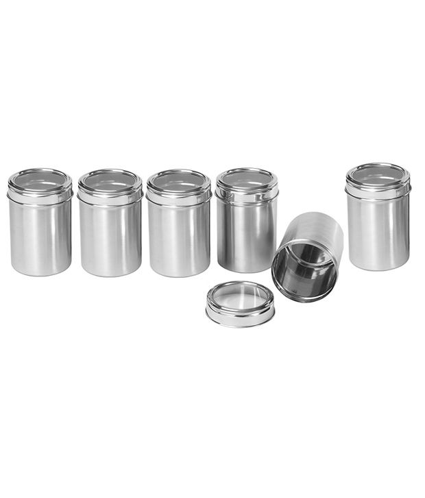 kitchen canisters online dynore stainless steel kitchen storage canisters with see 12968