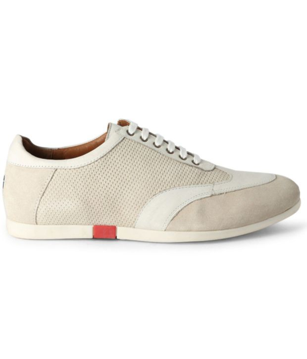 Louis Philippe White Casual Shoes - Buy