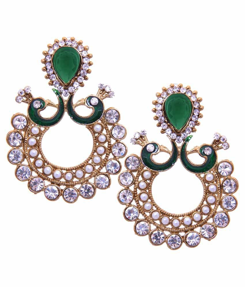 Red Chandelier India: Tradisyon Bollywood Celebrity Inspired Peacock Green