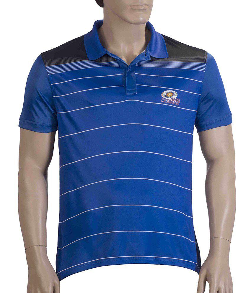 IPL T20 Mumbai Indians Official Men's Blue Polo T-Shirt