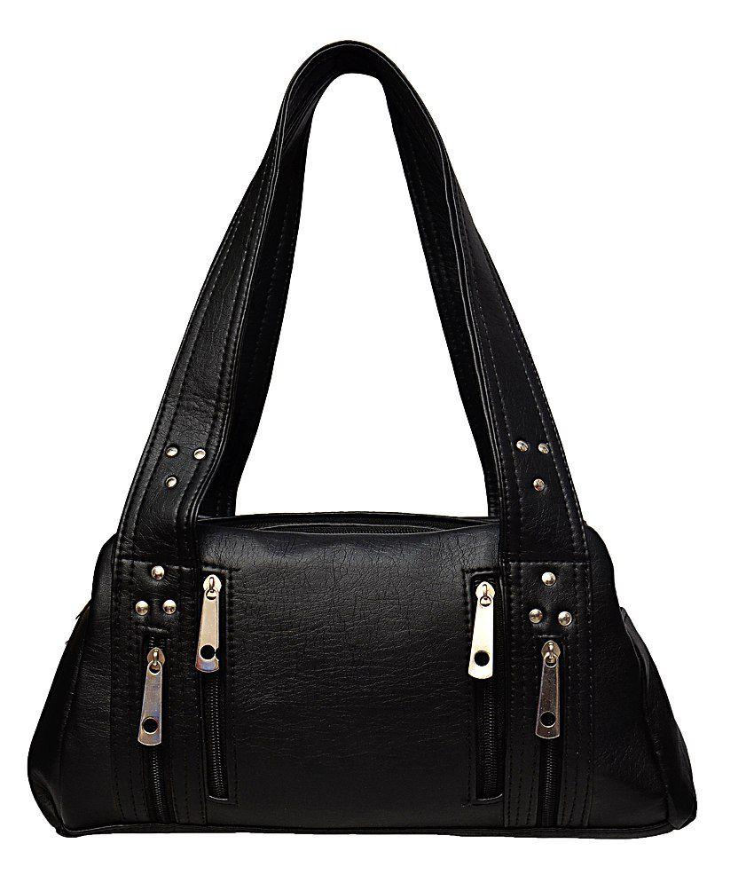 Arshia Black P.U. Shoulder Bag for Women