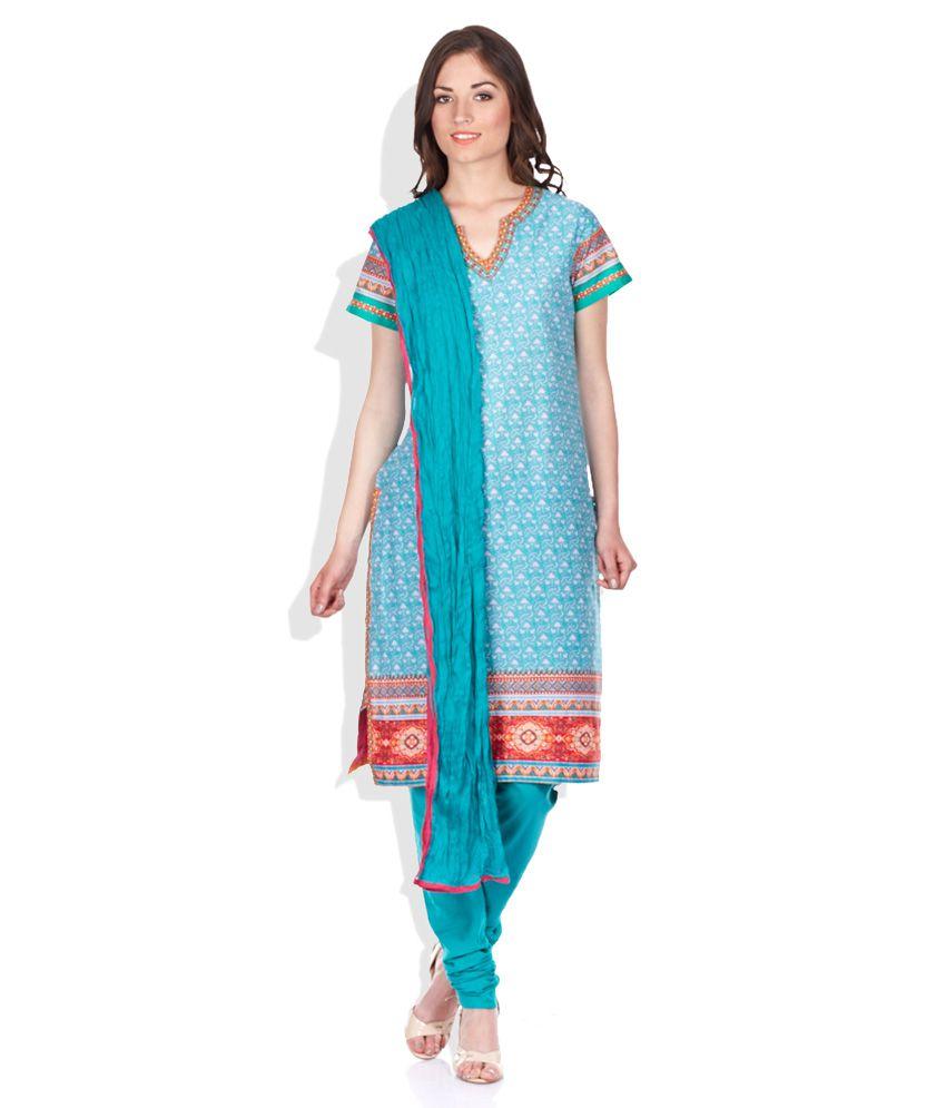 Biba Blue Salwar Suit set