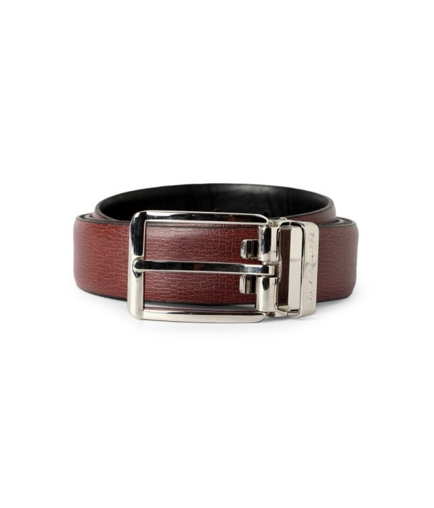 Louis Philippe Brown Leather Belt