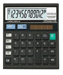 CT512 Basic Black Calculator 12 Digit