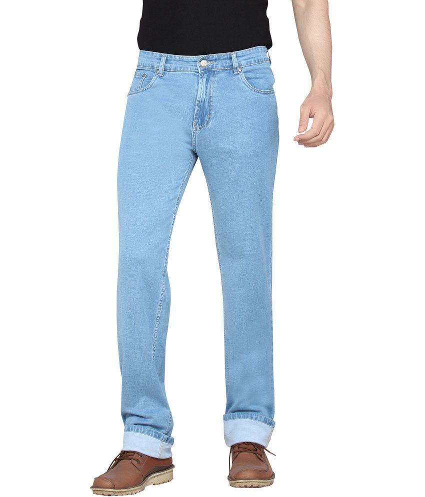 Dragaon Jeans Blue Cotton Blend Regular Jeans