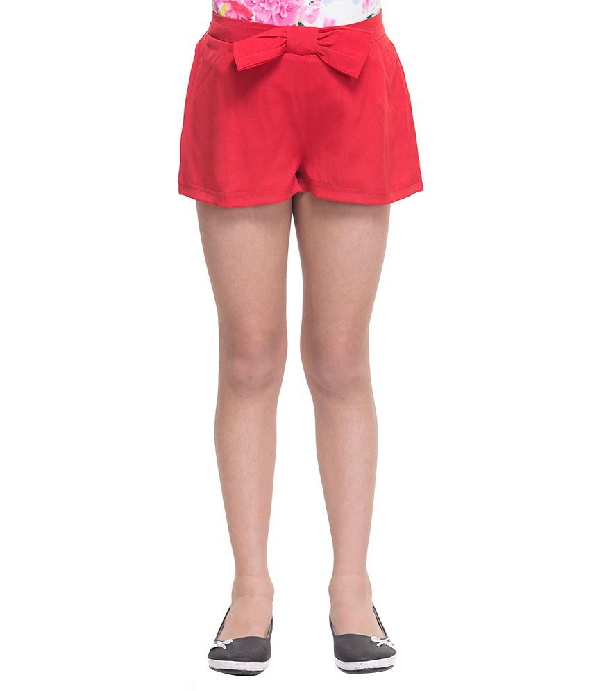 Oxolloxo Red Synthetic Shorts