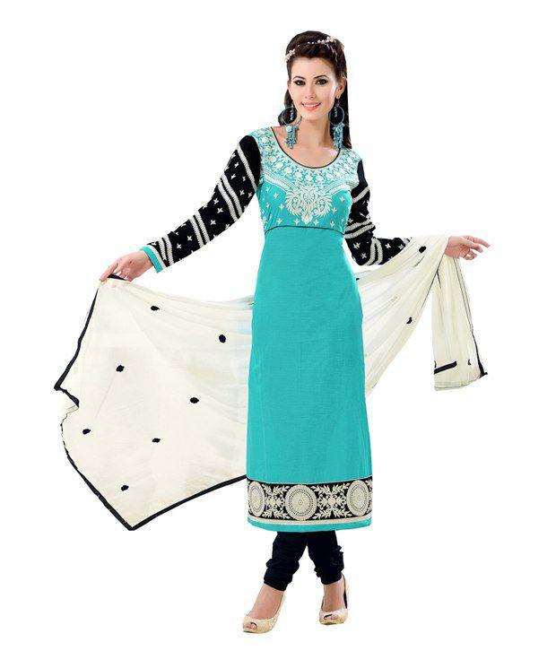 Radhe Creation Fabulous Brown Brocade Faux Georgette Anarkali Salwar Suit