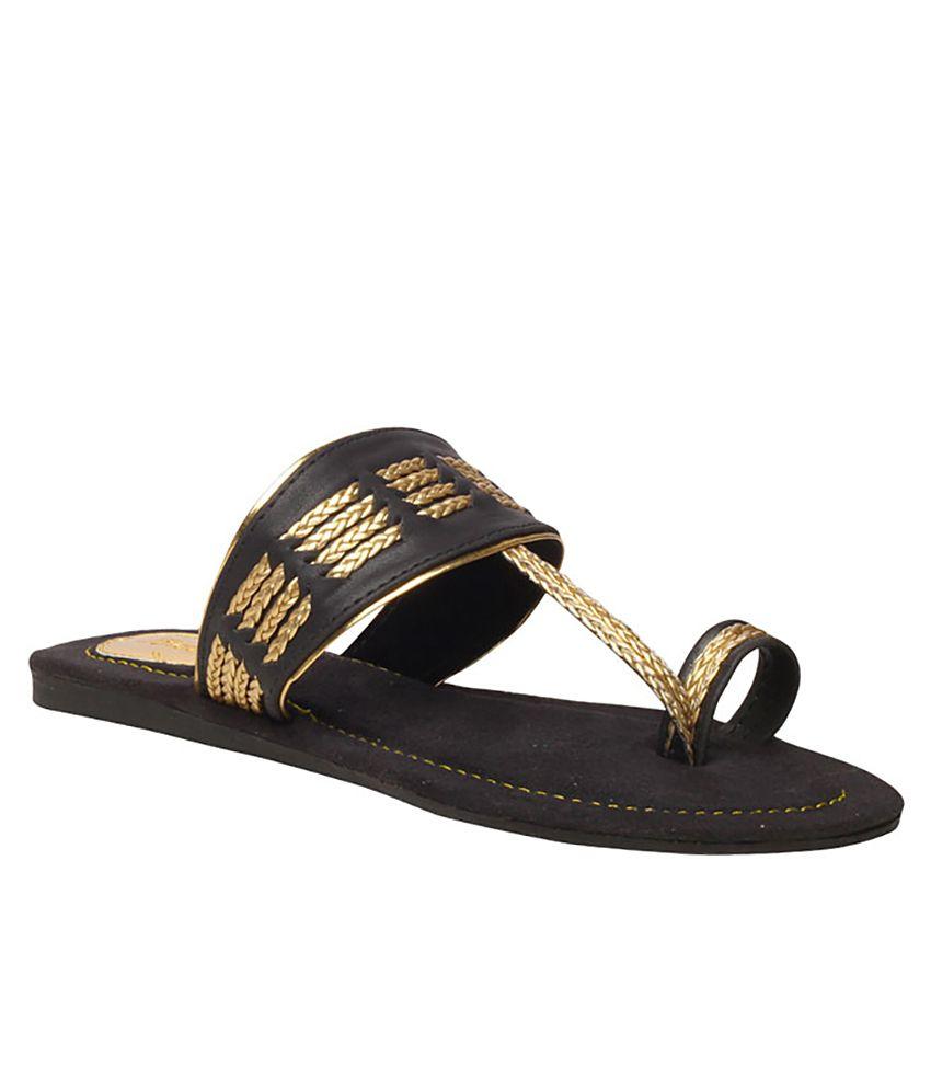 Bata Black Colour Women Sandal