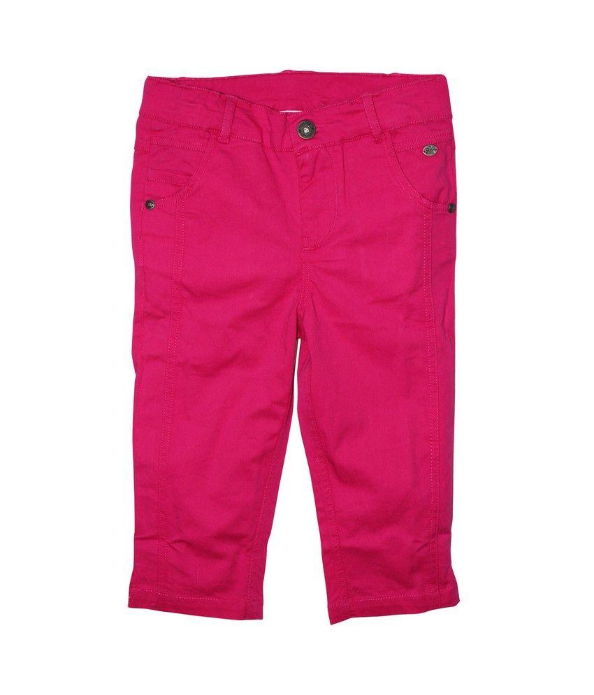 FS Mini Klub Pink Woven Capri