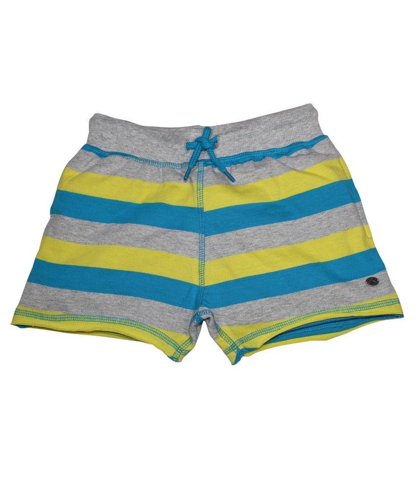 FS Mini Klub Yellow Striper Knit Shorts