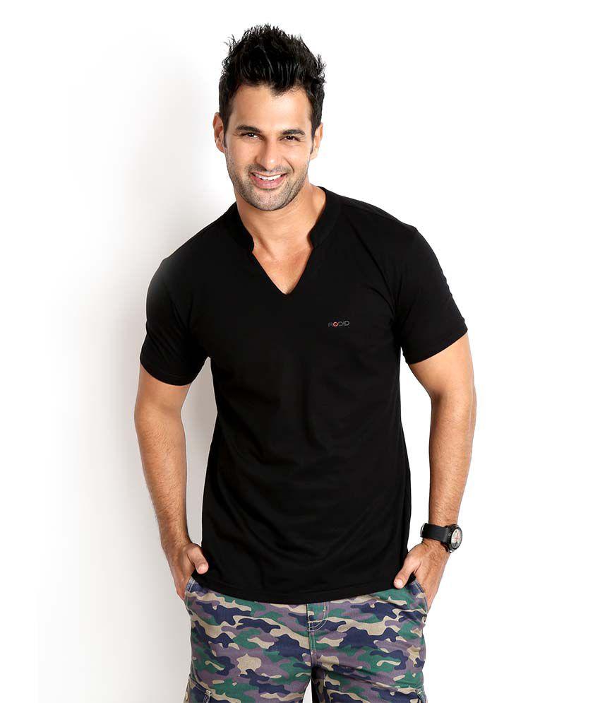 Rodid Black Cotton Basics T-Shirt