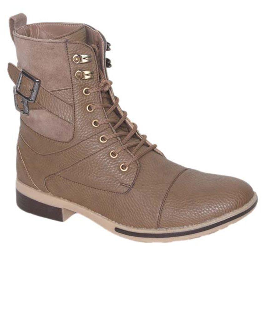 Shoe Smith Brown Boots Shoes (Size-9)
