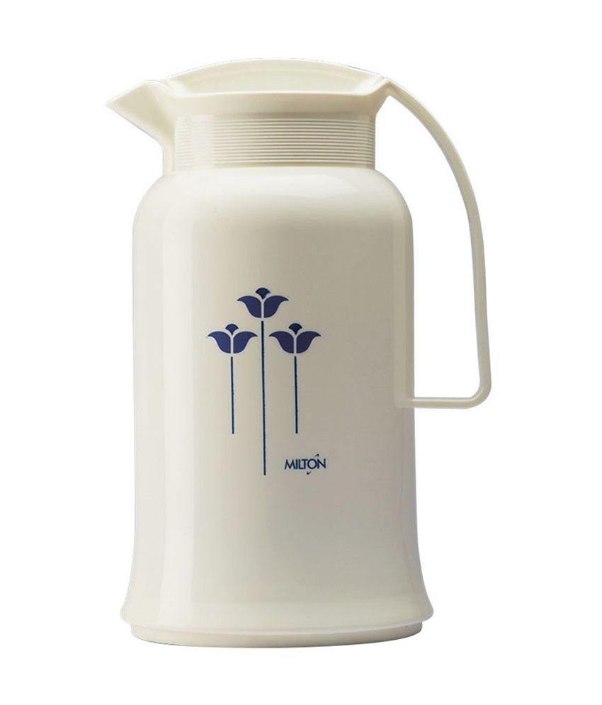 Milton Crystal White Virgin Plastic Flask - 1000 Ml