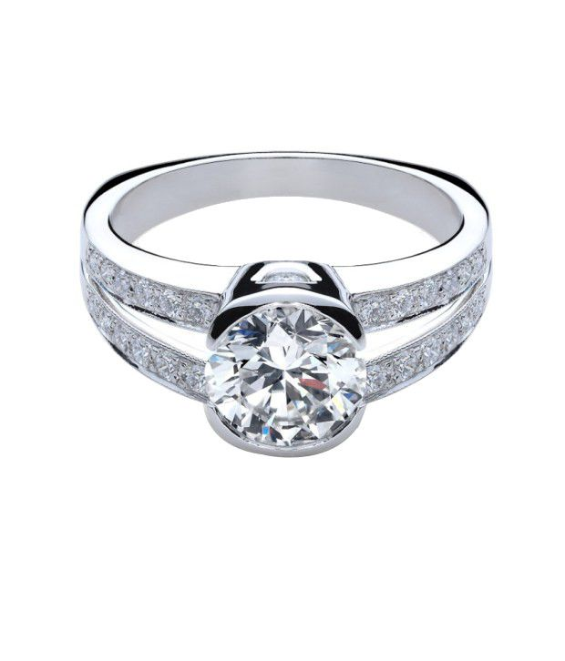 Deben & Hill 92.5 Sterling Silver Ring Made With Swarovski Zirconia