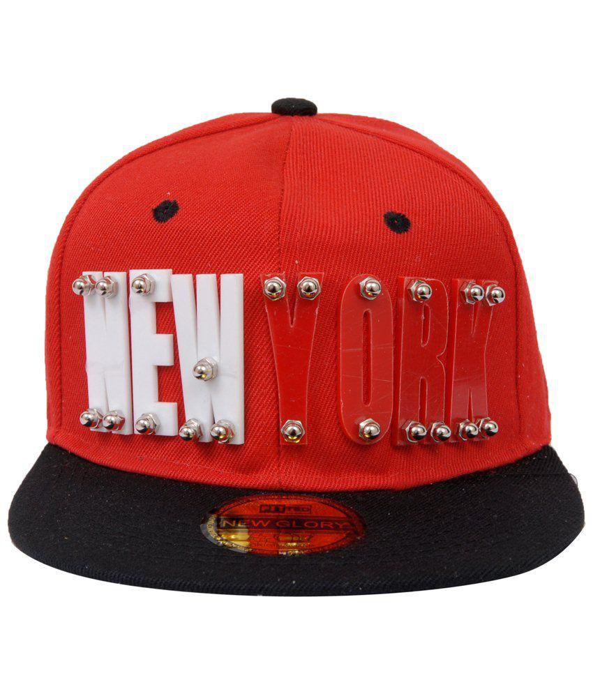 Jorss Red and Black New York Hiphop Yoyo Baseball Cap