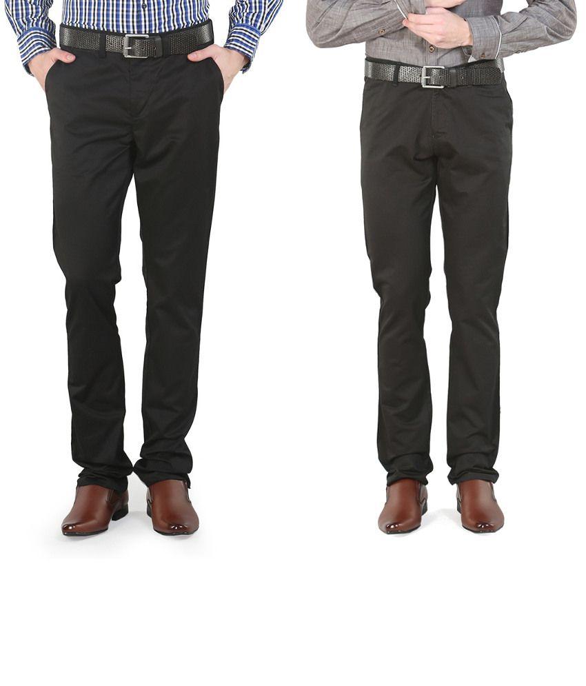 Platinum League Combo Of Black Trousers