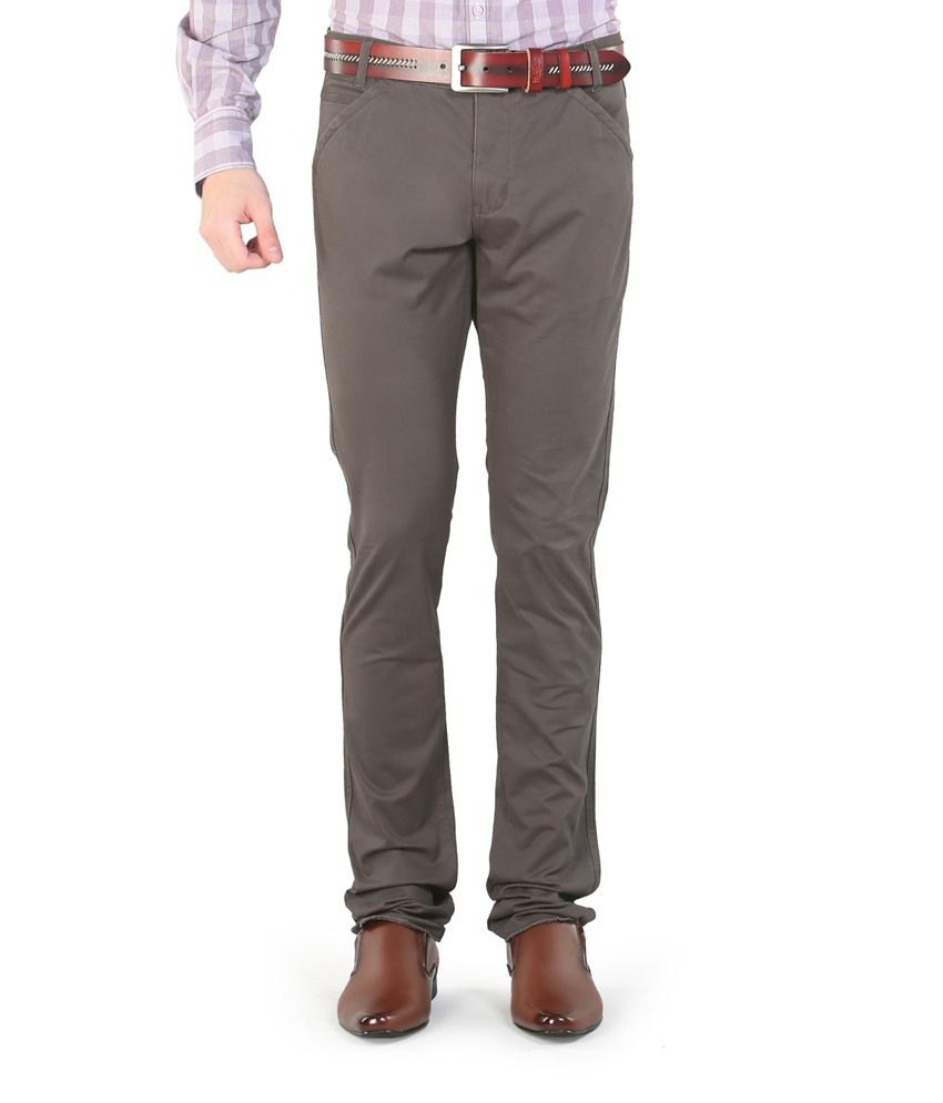 Platinum League Combo Of Gray Trousers