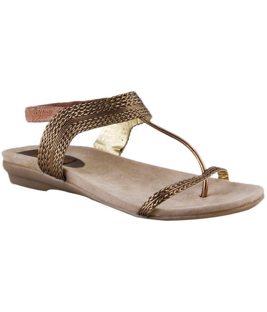 Waltz Beige Flat Sandals