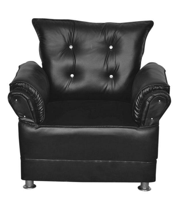 Images For Sofa Set: 5 Seater Sofa Set (3+1+1) In Black