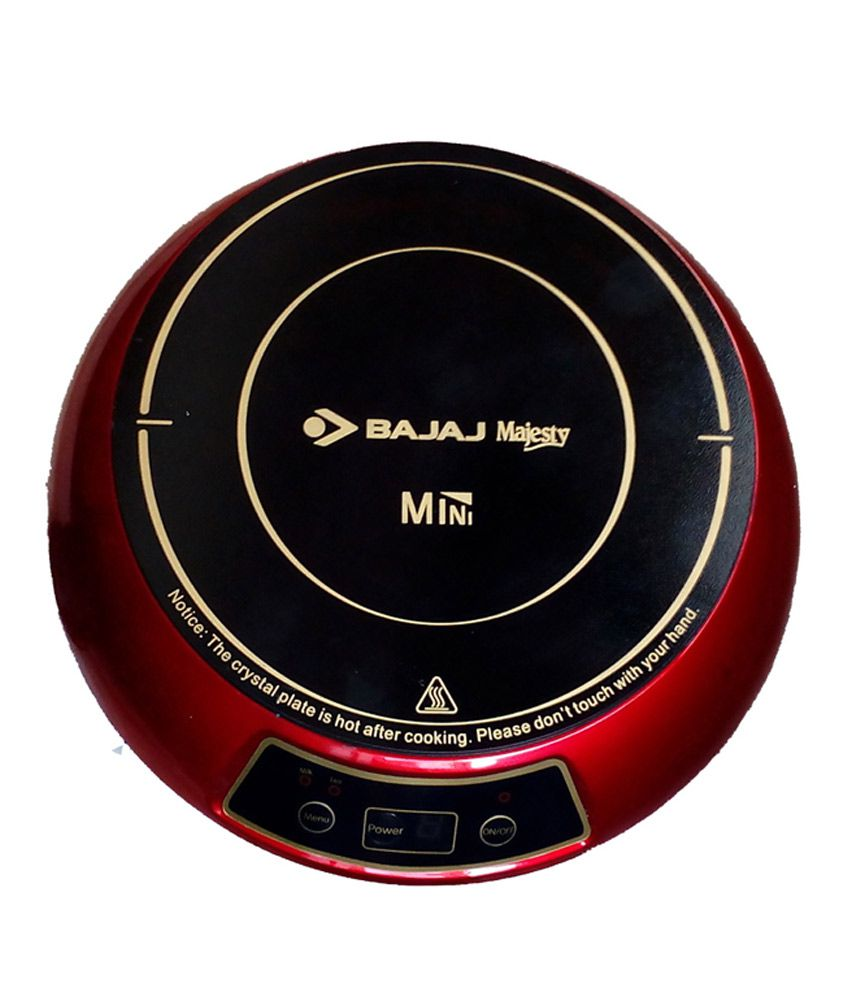 Bajaj 1200W Mini Induction Cooktop-Red