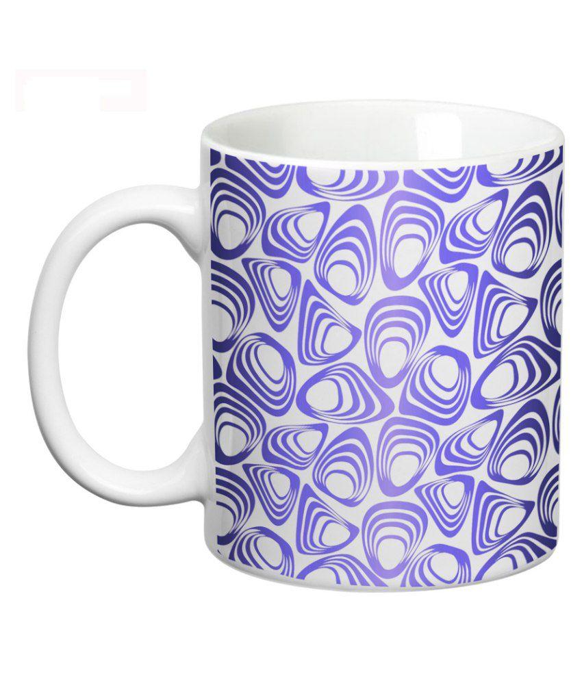 Prithish abstract design blue mug buy online at best for Blue mug designs