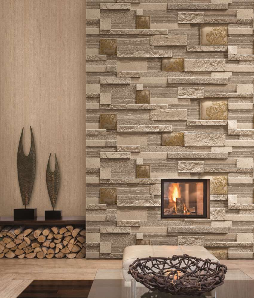 Buy Sep Textured Designer Stone Wallpaper Online at Low Price in
