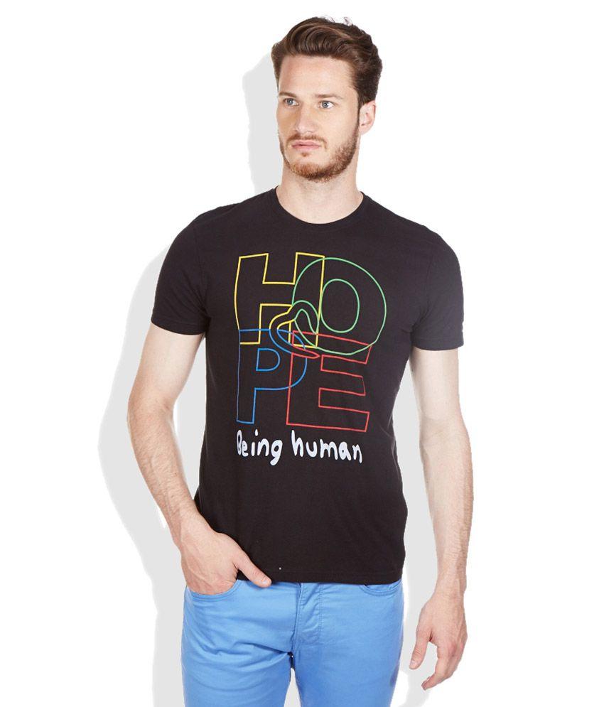 Being human black round neck t shirt buy being human for Buy being human t shirts online