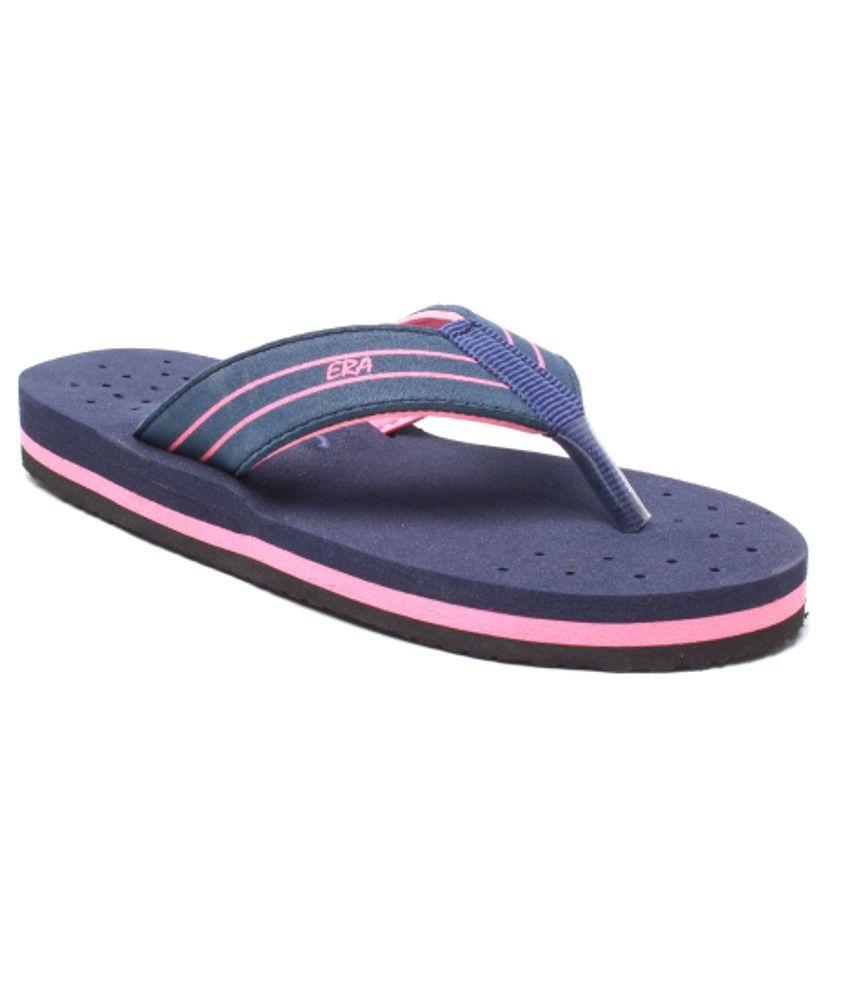 Feel It Fashionable Blue Slippers