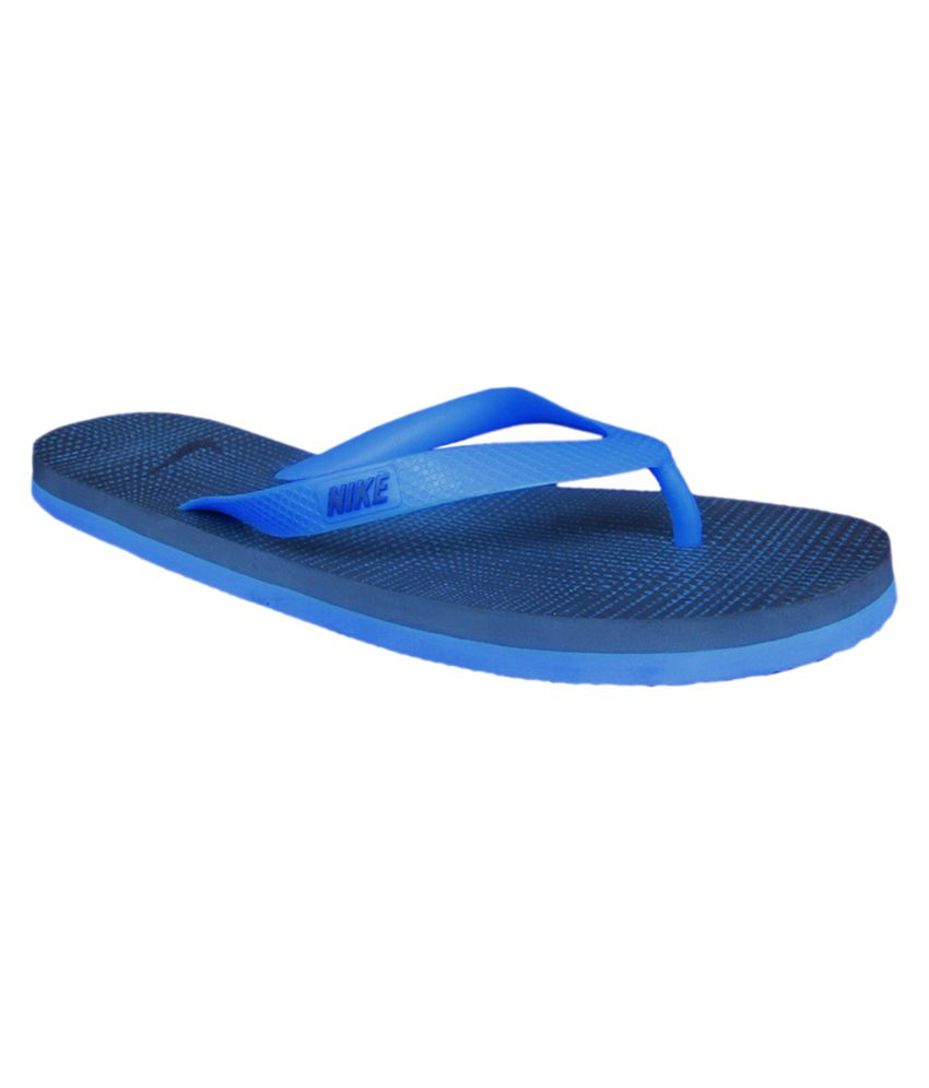 huge selection of 50643 4cc5c Nike Blue Aquaswift Thong Print Flip Flops Price in India ...