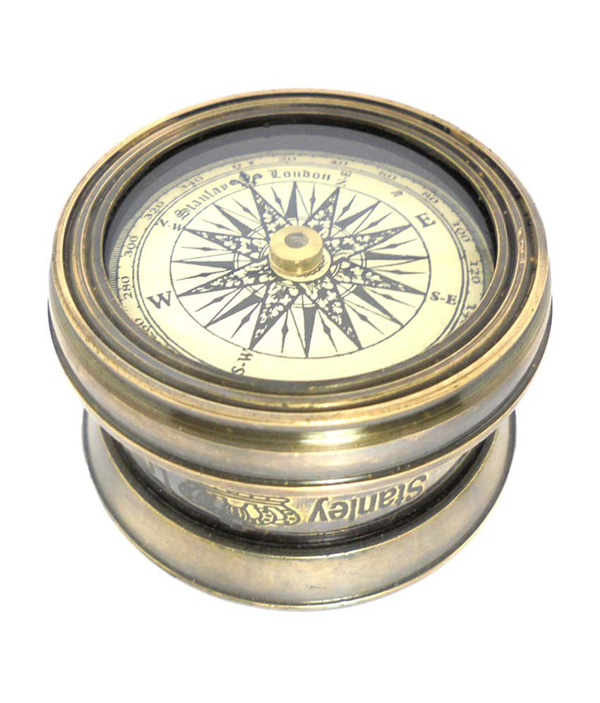 Ageless Azyra Real Brass Vintage Antique Finish Table And Car Compass