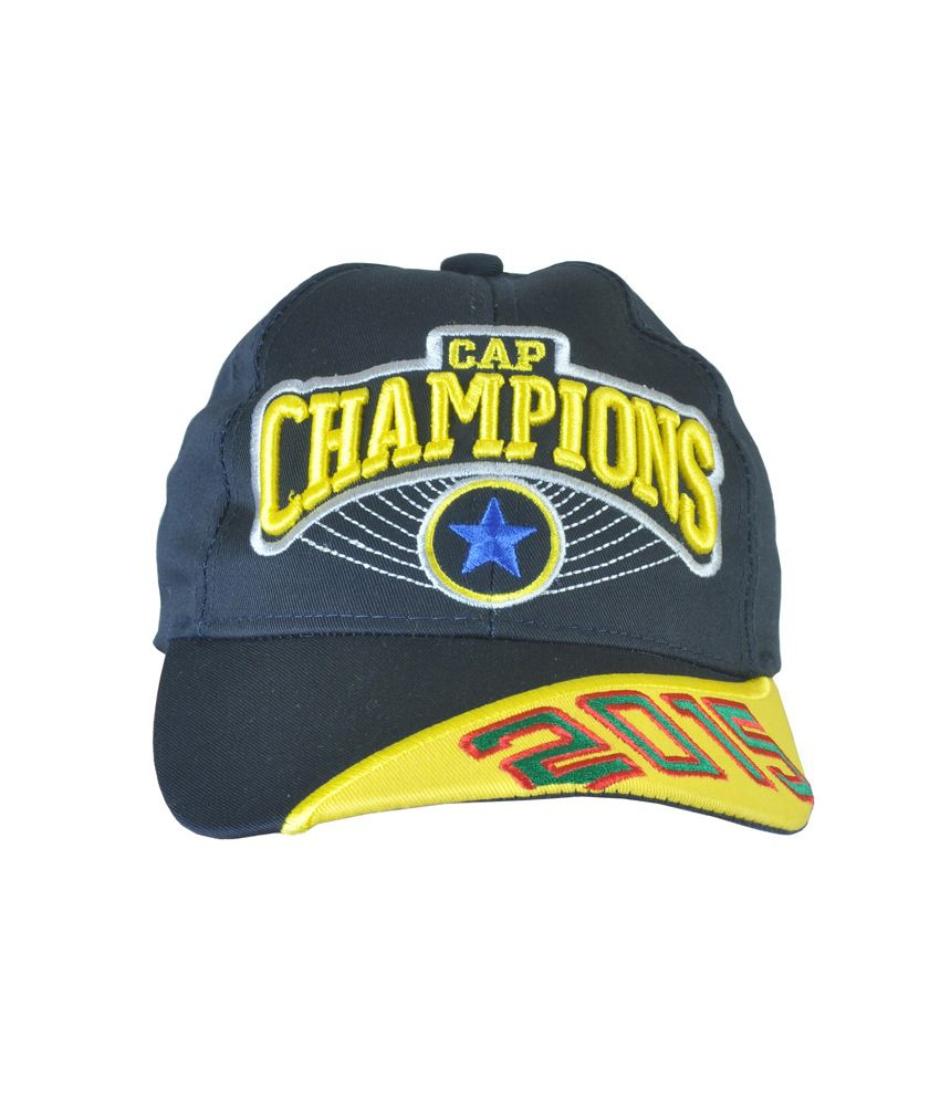 Alpha Man Cool Alpha Power Champions 2015 Black With Stylish Yellow Strap Baseball Cap