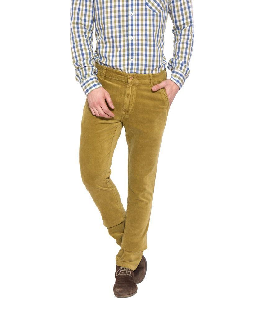 Globus Men's Beige Coloured Corduroy Trousers