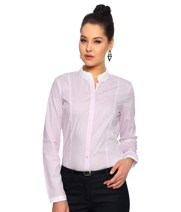 Van Heusen Woman Pink Cotton