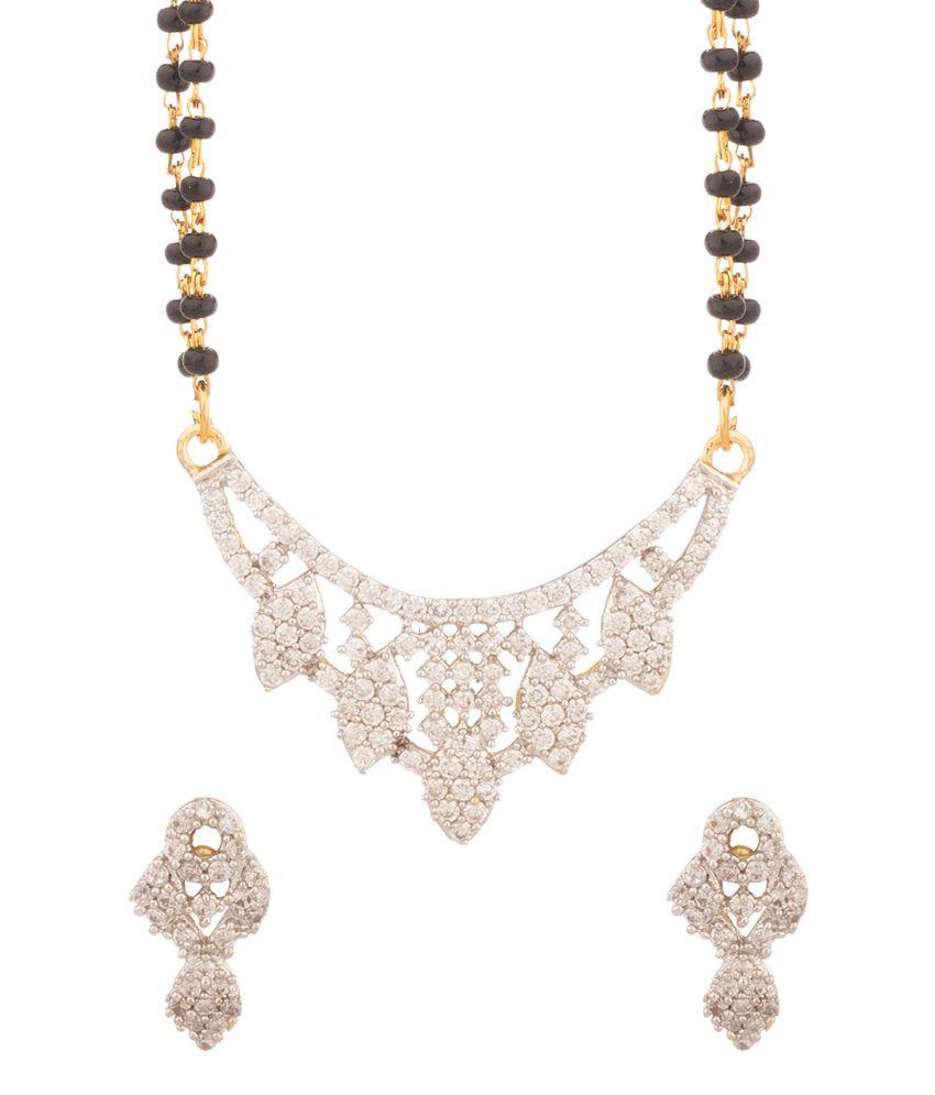 Voylla Glitz & Glam Double Chain Mangalsutra Set