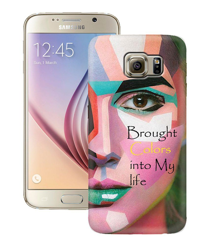 ZAPCASE Printed Hard Shell Back Cover Case For Samsung Galaxy S6